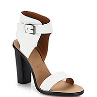 Vince - Nicole Block-Heeled Leather Sandals - Saks Fifth Avenue Mobile