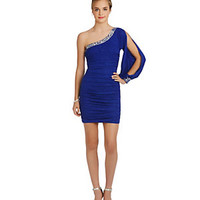 Jodi Kristopher Glitter One Shoulder Dress | Dillard's Mobile