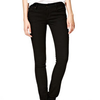 Taylor Low-Rise Skinny Jeans in Black