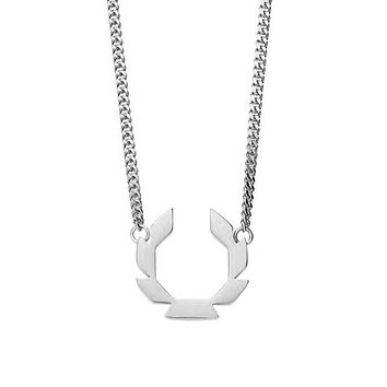 Laurels Necklace - Chrome