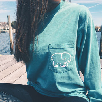 Pocketed Seafoam Classic Print