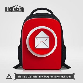 Toddler Backpack class Dispalang Preschool Nursery Backpack Gesture Sign Prints Kindergarten Schoolbags 12 inch Mini Kids Bag Toddler Shoulder Bag Red AT_50_3