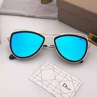 DIOR trend polygon female color film polarized sunglasses #6