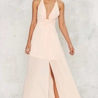Cecily Plunging Maxi Dress