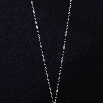 Large Genuine Baroque Pearl on 30'' Sterling Silver Chain Necklace with a .25 CT. Diamond Veneer 635N30P