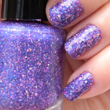Diva Nail Polish Purple Glitter Nail Color 05 oz by KBShimmer