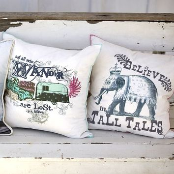 Junk Gypsy Sequin Embroidered Pillow Covers