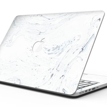 Mixtured Blue and Gray 19 Textured Marble - MacBook Pro with Retina Display Full-Coverage Skin Kit