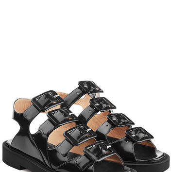 Leather Sandals - Carven | WOMEN | US STYLEBOP.COM