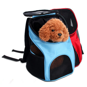 Hands Free Dog Carrier Backpack Travel Dog Cat Bag Breathable Mesh Shoulder Bag for Small Animals Chihuahua Teddy Four Colors