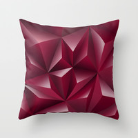 Red Glamour  Throw Pillow by AnastasiaDesign