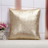 Pillow Case Glitter Sequins Solid Color Throw Cafe Home Cushion For Office Home Bedding Covers 40x40cm Rose Gold Bling Shining