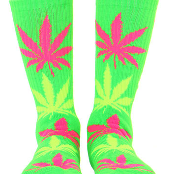 NEON GREEN PLANTLIFE SOCKS