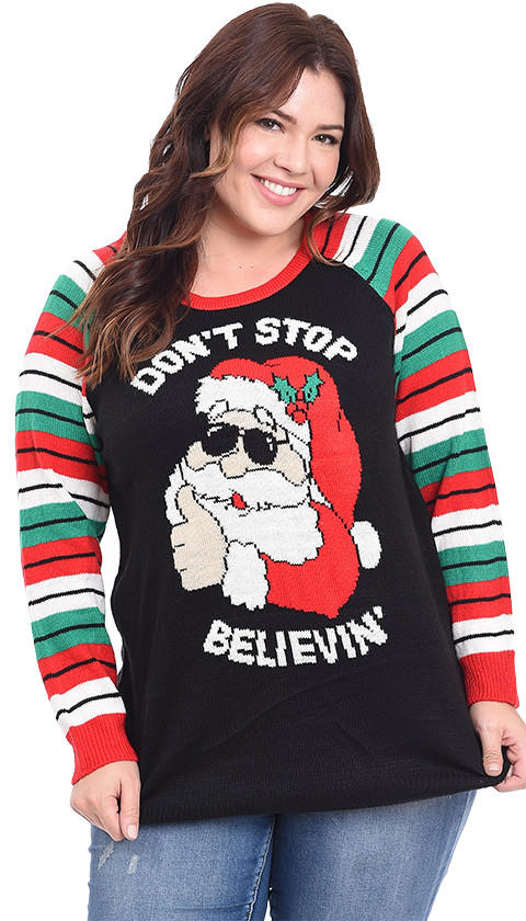 90e824558b6 Plus Size Don t Stop Believing Ugly from Love On A Hanger