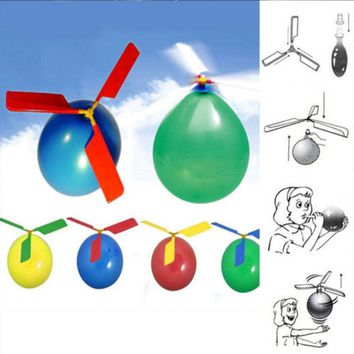 1pc Funny Balloon Helicopter Flying Outdoor Playing Educational Kids Toys free shipping 2017 New Hot