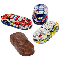 Foiled Milk Chocolate Race Cars: 36-Piece Display