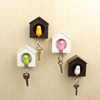 Pack of 2 Sparrow Key Ring Holder Whistle (Random Color)