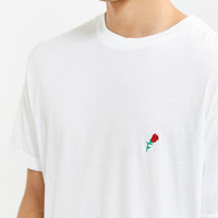 Embroidered Rose Tee | Urban Outfitters