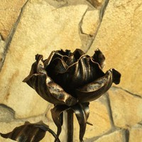 Iron rose, hand forged rose, metal rose, wrought iron rose, metal sculpture, metal rose gift,metal gift for her,forging art,anniversary gift