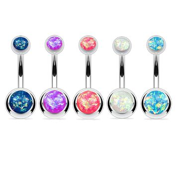 BodyJ4You Belly Button Ring Set of 5 Pieces Assorted Colors
