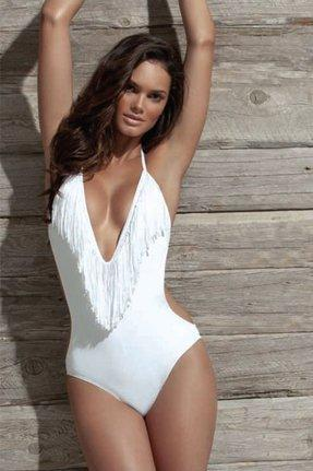 L*Space Stardust Fringe One Piece in White