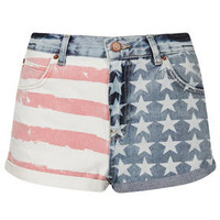 MOTO Flag Print Hotpants - Shorts  - Clothing
