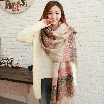 STYLEDOME Women Mohair Scarf  Long Size Warm Fashion Scarves & Wraps