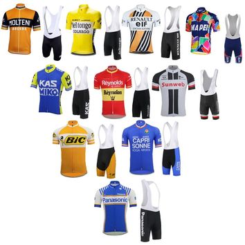 Tour de France Cycling jersey bike wear jersey set bib shorts gel pad Summer Breathable cycling clothing MTB ropa Ciclismo