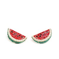 MELODY EHSANI | Crystal Watermelon Earrings | Browns fashion & designer clothes & clothing