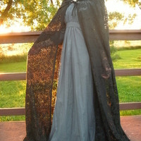 Full, Gorgeous Lace Cloak----- MADE TO ORDER--- Custom Made Lace or Fabric Cloak--- Costume Cloak, Costume Cape, Wedding Cloak
