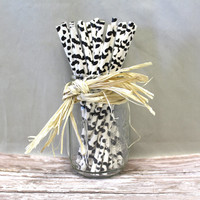 25 cow spot print black and white chevron paper straws for parties weddings Decorations Drinking Straws zig zag cake pop sticks party straws