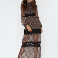 Paisley Your Dues Lace Maxi Dress