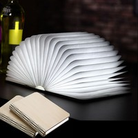 LED Book Shape Light Portable Paper Folding Light Book Lamp Table Lamp Hanging Wall Light