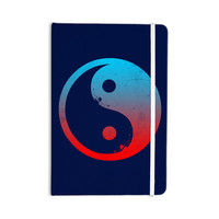 """Federic Levy-Hadida """"Ying Yang Surfers"""" Red Blue Everything Notebook"""