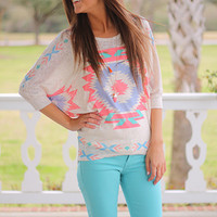 Center Of Attention Top, Coral