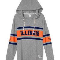 University of Illinois Varsity Pullover Hoodie - PINK - Victoria's Secret