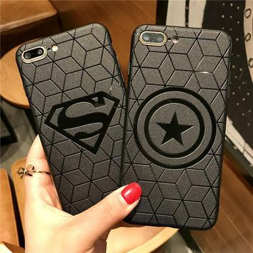 Batman Dark Knight gift Christmas JeKacci 3D Relief Hero Case For iPhone 7 8 Plus Soft Silicone Phone Back Cover For IPhone 6s 6 7Plus X Cases Superman Batman AT_71_6