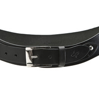 Classico Curved Handmade Leather Belt - Black