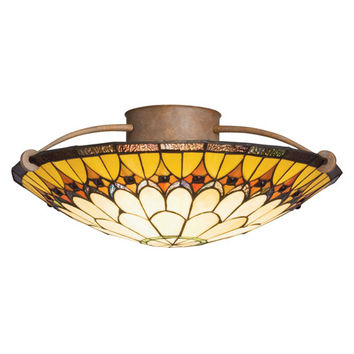 Kichler 69017 Artaxerxes Dore Bronze Tiffany Ceiling Light