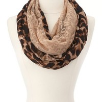 Leopard Lace Infinity Scarf: Charlotte Russe