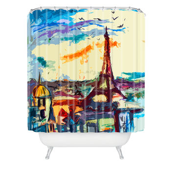 Ginette Fine Art Paris Skies Shower Curtain