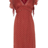 Red vintage print floaty dress - Brands at DP - View All  - Dresses - Dorothy Perkins
