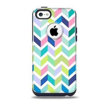 The Fun Colored Vector Segmented Chevron Pattern Skin for the iPhone 5c OtterBox Commuter Case