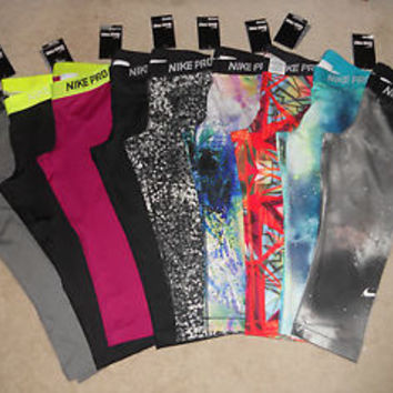 Nike Pro Core Compression Capris Dri-Fit Leggings Crop Tight Fit NWT (1-Pair)