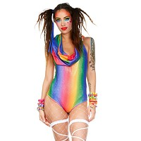 Over The Rainbow Hooded Romper