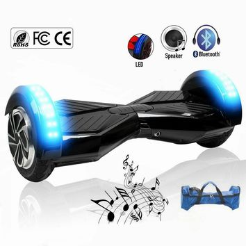 8 inch Hoverboard Self Balancing Scooters Electric Skateboard with Bluetooth Speaker Bag, LED light
