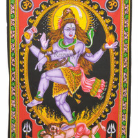 Indian Wall Art Lord Shiva Nataraj Wall Hanging Tapestry Unframed Painting 0124