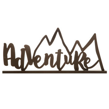 Adventure Metal Wall Decor with Mountain Peaks | Hobby Lobby | 1293554
