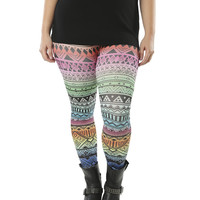 Rainbow Ombre Tribal Legging | Shop Jr. Plus at Wet Seal
