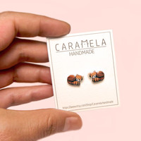 Red panda Stud Earrings Cute stud Red panda earrings Animals stud earrings